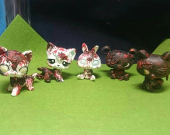 lps custom zombies 5 lot