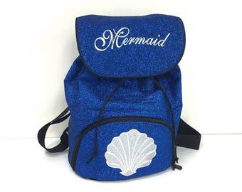 Mermaid Seashell Glitter Backpack