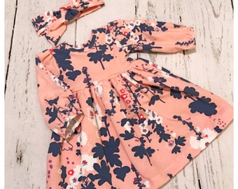 Baby girl dress , toddler outfit , baby girl clothes , baby outfit , girl dress , fall dress , spring dress , baby dresses