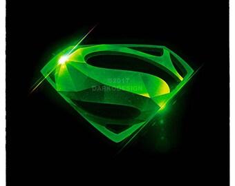 Kryptonite Superman signed wall art poster / fine art print