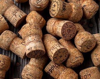 Champagne real Cork SALE, 10 Used Prosecco Corks, mini succulent planter pot diy, cork card holder diy, wedding place card holder diy