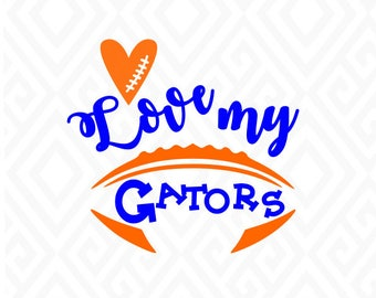 Love My Gators; SVG, DXF, EPS, Ai, Jpeg, Png, and Pdf Cutting Files for Electronic Cutting Machines