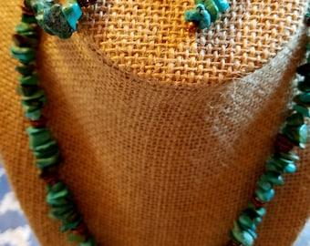 blue chip turquoise necklace set