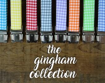 Dog Collar Gingham, Gingham Dog Collar, Gingham Pattern Collar, Plaid Dog Collar, Colorful Plaid Dog Collar, Gingham Dog, Bright Dog Collar