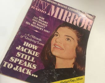 1966 TV Radio Mirror - July 1966 - Jackie O. / Kennedy Vintage Magazine