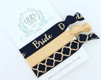Black bride hair ties