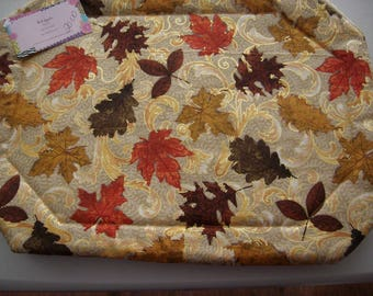 Fall Leaves on Gold Placemats