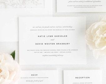 Classic Urban Wedding Invitations - Sample