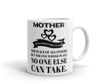 Mothers Day Gift, Gift for Mom, Can't Take Mom's Place Mother's Day Coffee Mug, Mother Mug - Mother's day Mug - Mother's Day - Mom Mug -