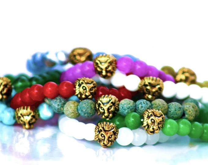 Buy 2 get 1 free Brave heart gemstone bracelet