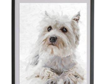 Westie Terrier West Highland Dog westie dog West Highland Westie Terrier Dog Highland Terrier gift westie art print westie gift dog art