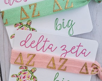 """Delta Zeta """"Letters"""" Hair Tie 