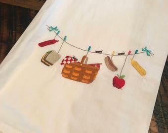 Picnic flour sack towel