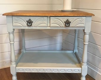 Solid oak, Edwardian console table