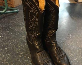 Vintage Black Cowboy Boots