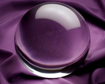 Feng Shui / April Birthstone Natural Clear Quartz Crystal Ball