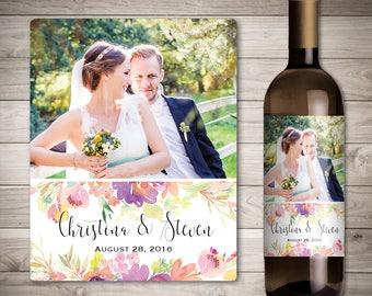 Photo Wedding Wine Label - Custom Wine Label - Personalized Wine Label - Wedding Wine Bottle Label-Wedding Decoration Wine-Custom Photo Wine