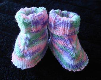 Baby Hug Boots knitted in 8 ply Acrylic Yarn