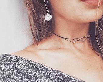 Long earrings, Silver earrings, Bohemian jewelry, gift idea