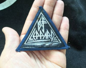 Def Leppard , vintage patch 80s . frayed