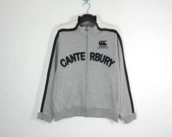 Canterbury Jacket VINTAGE Canterbury Rugby Gray Zipper Jacket Men's Size L