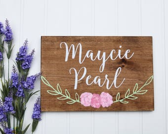 Baby shower signage, Wood baby name sign for wall, Baby room signs, Wood signs personalized baby, Nursery wall art