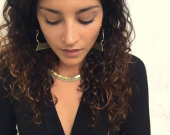 Small Kalani Hoop Earrings-  Brass Earrings- African Tribal Jewelry- Boho Earrings- Nakila Collective