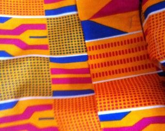 Gorgeous African print Kente head wrap scarf neck tie shawl