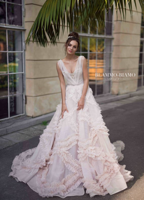 Unique Wedding Dress NOEL Bohemian Tulle