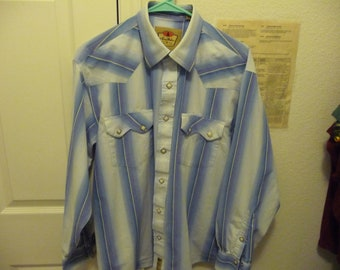 Vintage Larry Mahan Western L/S Pearl Snap Shirt L