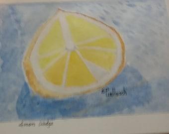 Lemon cutted in half