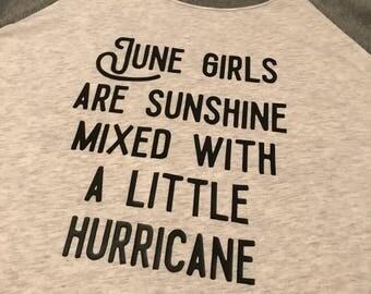 Baseball June Girl Tee