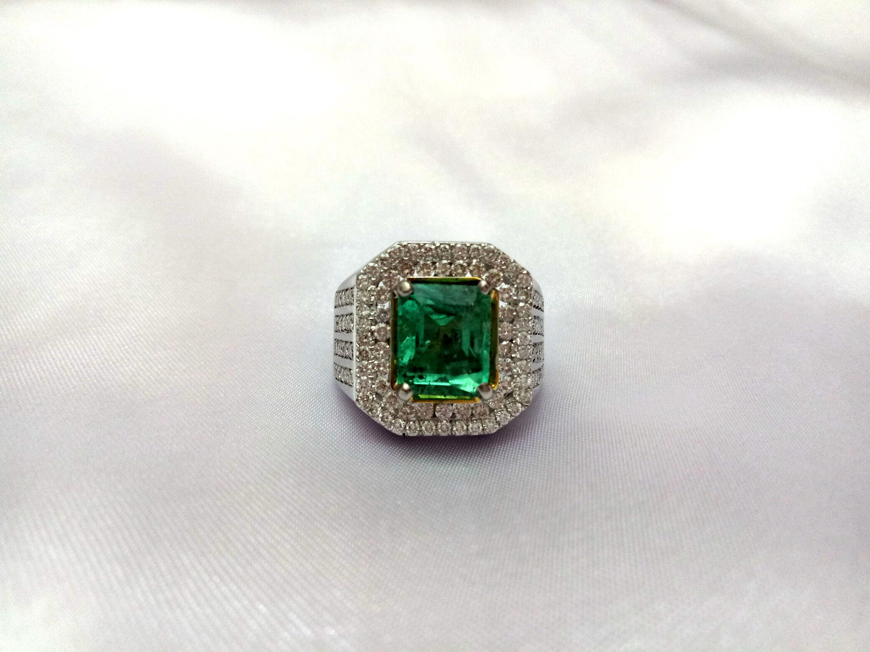 ring emerald shaped mens youtube watch cut