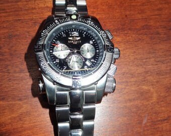 Breitling Chronomat Watch Look-Alike, Breitling with Compass Watch - FREE SHIPPING