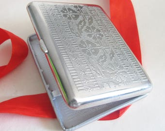 Retro Metal Cigarette Case, Soviet Cigarette Case
