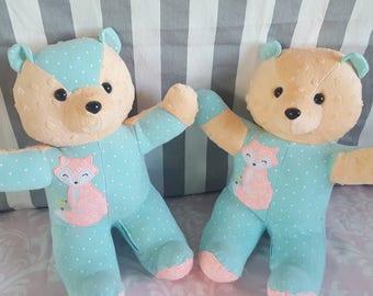 Memory Bear - Memory Stuffed Bear- In Memory of -Memory Keepsake - Keepsake Bear- remembrance bear- In loving memory- Custom bear