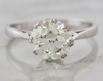 Vintage Solitaire Old European Cut Diamond Engagement Ring | Londom