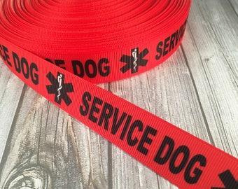 Service dog ribbon - Medical ribbon - Do not pet - Dog leash DIY - Dog collar DIY - Unique ribbon - PTSD dog ribbon - Canine ribbon - Crafts