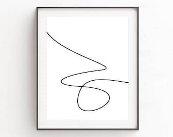 Wall Art, Modern Minimalism, Minimalist Art, Scandinavian Modern, Modern Art, Printable Art, Oju Design, Best Selling, White Space Poster