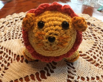 Crochet Lion Key Chain Zipper Pull
