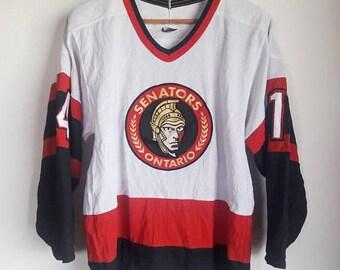 ON SALE 30% Vintage CCM Vintage Ottawa Senators Plain Nhl #14 Hall Hockey Jersey Adult Size Small