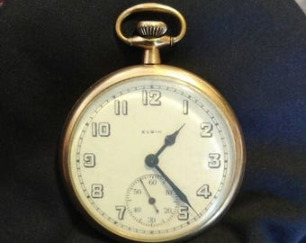 Elgin National Watch CO. Pendant Style B&B Royal 10K GP Pocket Watch