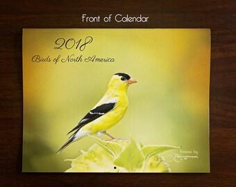 2018 calendar-Nature calendar-Unique nature gift-Animal calendar-Nature wall calendar-Bird calendar-Wildlife calendar-Goldfinch-Bluebird