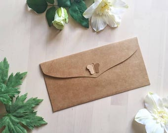 Heart lock envelope, wedding invitation envelope, rsvp, save the date, thank you card, bridal shower card envelope