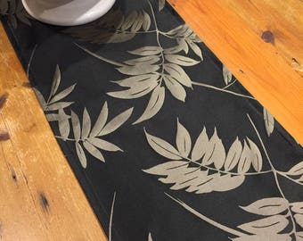 Table Runners, Oriental Fern, Black U0026 Stone, Quality Upholstery Material,  Hand Made