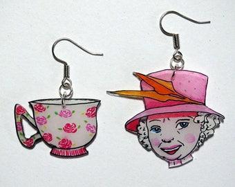 Elizabeth at tea time...