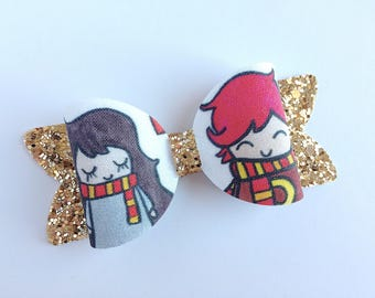 Harry Potter Hair Bow - Hermione Hair Bow - Ron Weasley Bow