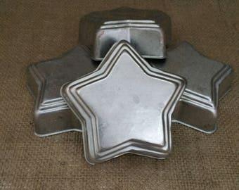 Mini Star Baking Pans--Mini Star Molds--Small Aluminum Cake Pans