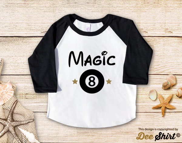 Eighth Birthday Shirt 8th T Magic Eight Ball Year