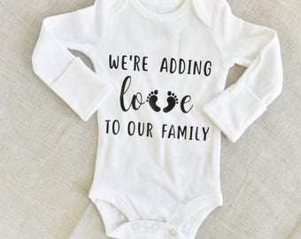Baby Announcement Onesie,Baby Shower Gift, Birth Announcement Onesie, New Baby Onesie, Baby Onesie